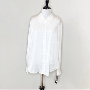 NTW INC International Concepts White Button down